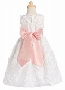 Japanese Clothing Size Chart Blossom White Sleeveless Taffeta Ribbon Dress W