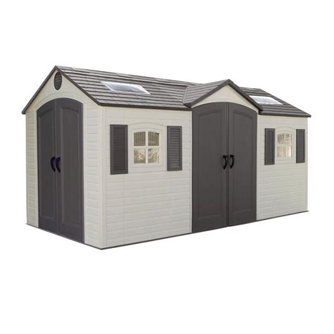 us leisure 10 ft x 8 ft keter stronghold resin storage