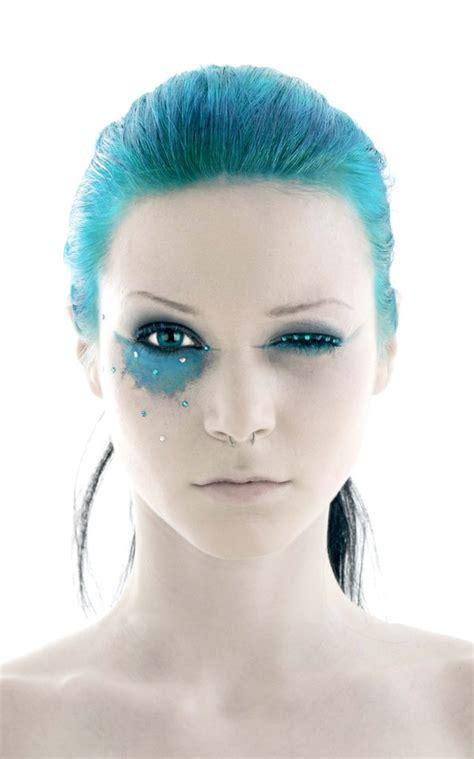 pirate makeup blue hair paint fav images