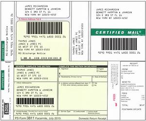 Certified Mail Label Instructions 6422634573 2566324785