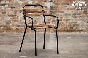 Chaise Industrielle Metal : chaise de style industriel acier et bois massif pib ~ Teatrodelosmanantiales.com Idées de Décoration