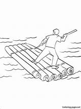 Raft Coloring Pages Drawing Printable Vehicles Getdrawings Addicted Parents sketch template