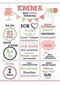 12 Geburtstag Was Machen : art print 39 my 1 geburtstag 39 girl din a4 mural babies ~ Articles-book.com Haus und Dekorationen
