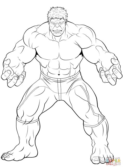Avengers The Hulk Coloring Page Free Printable Coloring