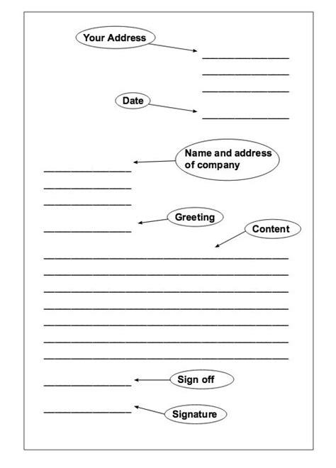 formal letter template ideas  pinterest