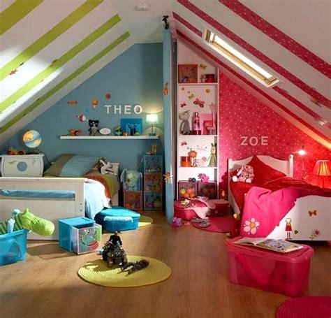 une chambre pour deux idee deco chambre enfant mixte