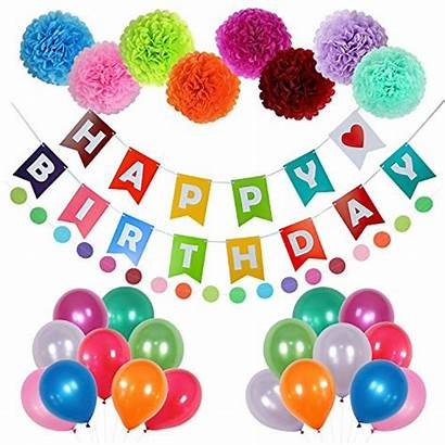Birthday Happy Decorations Party Banner Balloons Supplies