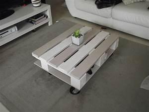Faire Une Table Basse En Palette : table basse cona ue avec une palette galerie et table avec ~ Dode.kayakingforconservation.com Idées de Décoration