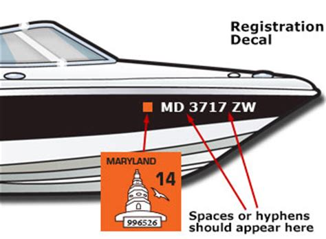Registering A Boat In Maryland by Boat Registration Sticker Placement