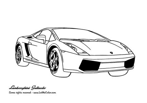 Lamborghini Aventador Drawing Outline