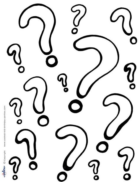 printable question marks coloring page coolest