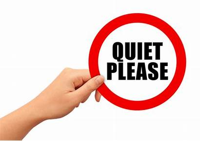 Quiet Please Sign Library Keep Silence Clipart