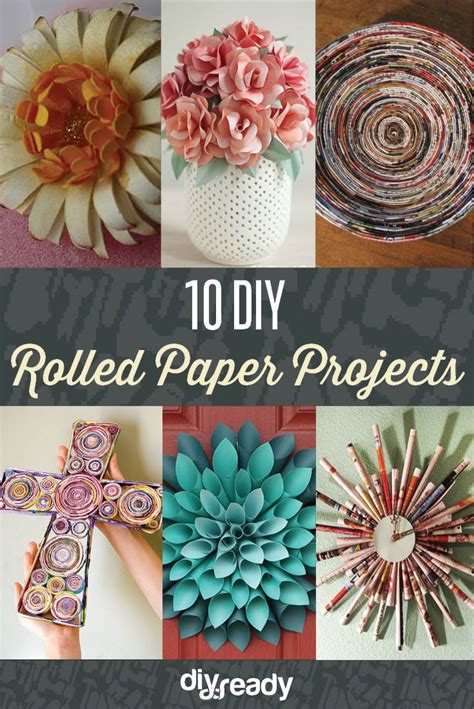 diy rolled paper crafts  recycled magazines diy