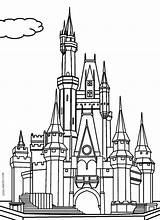 Castle Coloring Pages Princess Printable Cool2bkids sketch template
