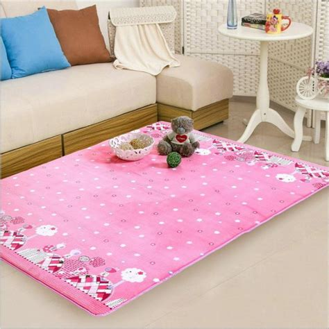 pink bedroom rug acquista all ingrosso online rosa tappeti camera da letto 12847 | 150X190CM font b Pink b font Princess Carpets For Living Room Kids font b Bedroom b