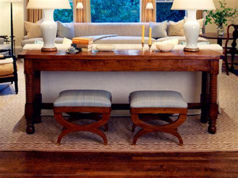 sofa table and stools photo page hgtv