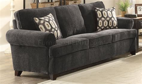 Sofa And Loveseat by Alessia 2pc Sofa Loveseat Set 52828 In Grey