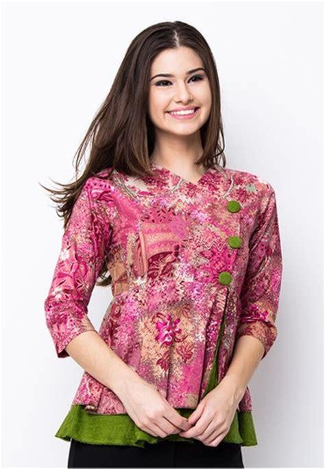 model baju atasan wanita batik terbaru trendy modis