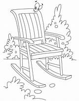Chair Coloring Rocking Bestcoloringpages Furniture Chairs Printable Getcoloringpages Sheets sketch template