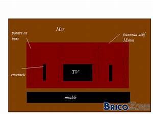 Mur Tv Bois : fixation support tv 52 sur panneau en bois ~ Teatrodelosmanantiales.com Idées de Décoration