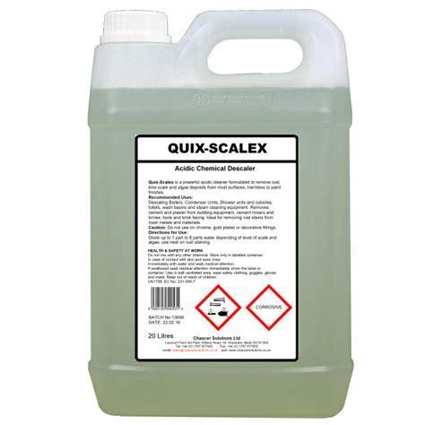 QUIX SCALEX Acid Cleaner & Descaler   Rust, Algae