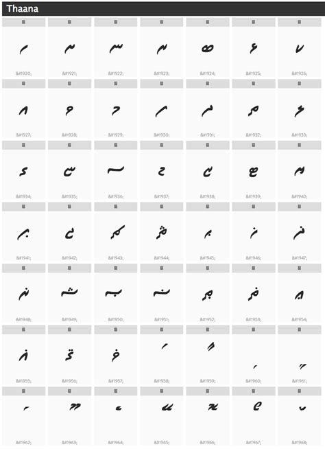 thaana fonts