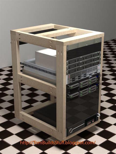 diy server rack server rack home tech woodworking