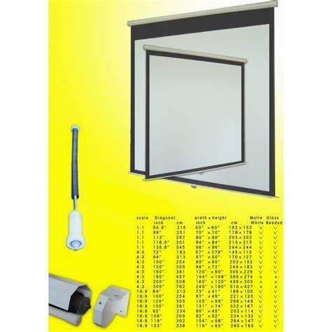 manual pull  projector screen  auto lock