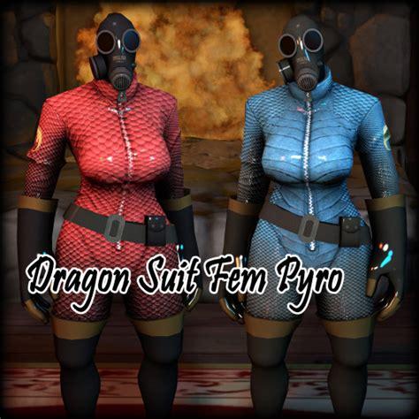 dragon suit fem pyro team fortress  skins pyro