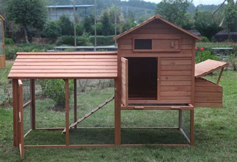 Large 8' Wood Chicken Coop Backyard Hen House 3-6 Chickens