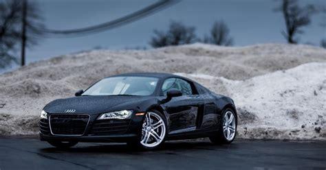 Auto Galeria: Czarne Audi R8, tapety, samochody, sportowe