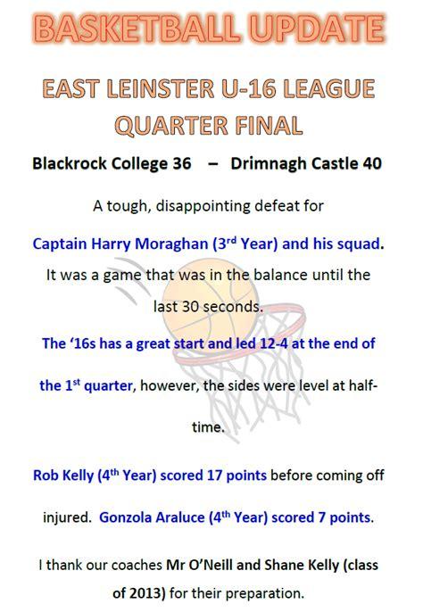 basketball east leinster league quarter final blackrock college