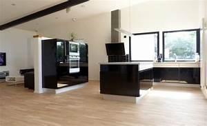 Meuble Bailleux Mondeville : cuisine laque noire pour ton salon salle en manger si tu ~ Premium-room.com Idées de Décoration