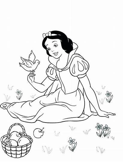 Snow Coloring Mewarnai Princess Gambar Putri Cinderella
