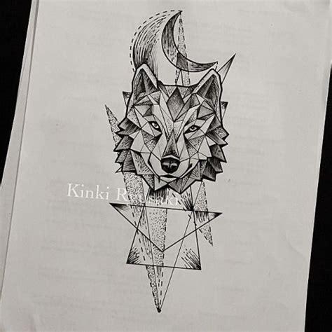 geometric wolf anazhthsh google  tatouage loup