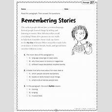 Reading Comprehension Worksheets Chapter #2 Worksheet Mogenk Paper Works