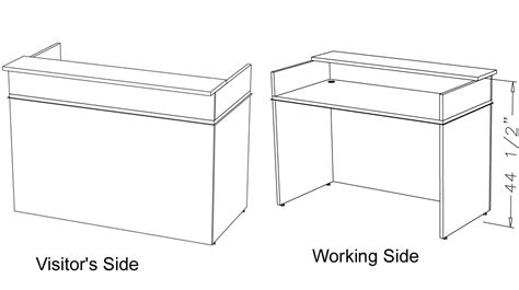 what is desk height classic custom standing height reception desk 5 39 w
