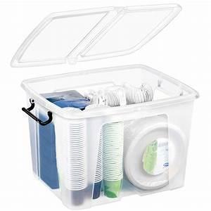 Boite Plastique De Rangement : cep strata boite de rangement plastique 40 litres bo te ~ Dailycaller-alerts.com Idées de Décoration