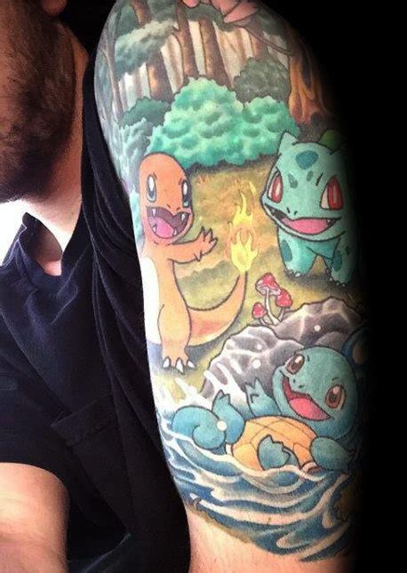pokemon tattoos  men catch cool design ideas