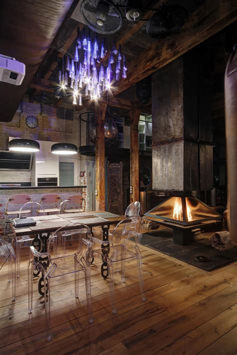 industrial bachelor pad loft design  russian home design  interior