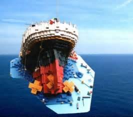 sinking titanic a lego 174 creation by b k mocpages com