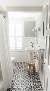 les 25 meilleures idees de la categorie salles de bain With salle de bain sol gris mur blanc