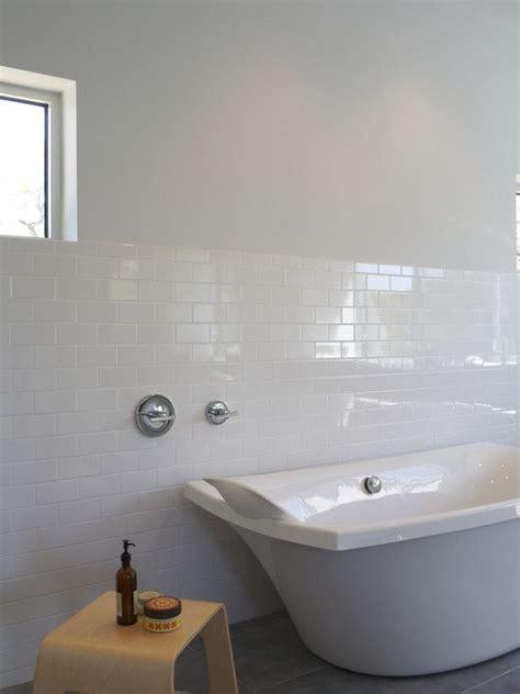 metro tile bathroom with no border just use half tiles