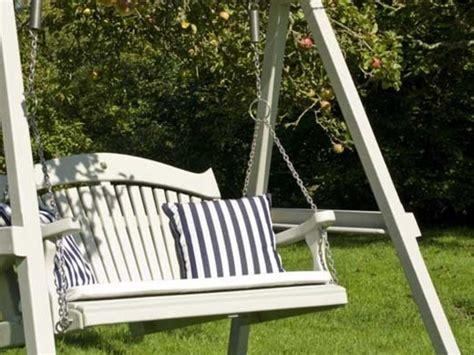 Garden Swing Seat by Harmony Painted Pine Garden Swing Seat Sitting Spiritually