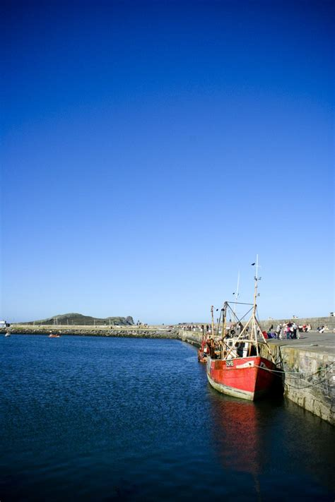 Find A Fishing Boat In Ireland by Free Fishing Boat Moored In Howth Ireland Stock Photo