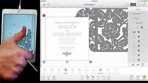 wedding invitation ios cricut design space version youtube With cricut wedding invitations youtube