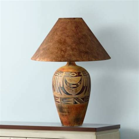 indian marigold handcrafted southwest table lamp