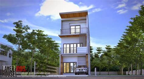 Project 12 แบบบ้านหน้าแคบ 3 ชั้น