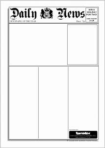 Editable newspaper templates sb6536 sparklebox for Free printable newspaper template for students