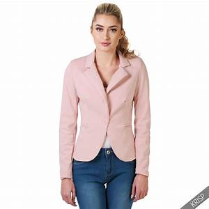 Womens Slim Fitted Smart Casual Jersey Blazer Ladies ...